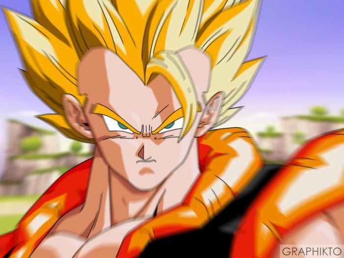gogeta hihi fusion avec sangoku est vegeta le puissant!!!!