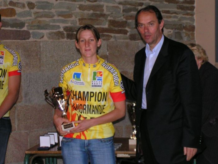 championne de normandie de vtt junior 2007