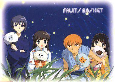 Yuki, Tohru, Kyo et Kagura