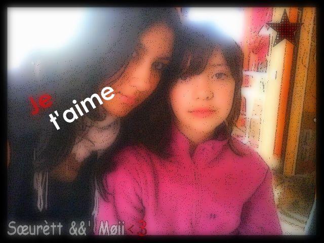 Moi && Léa <3'   Je t'aime Cousine
