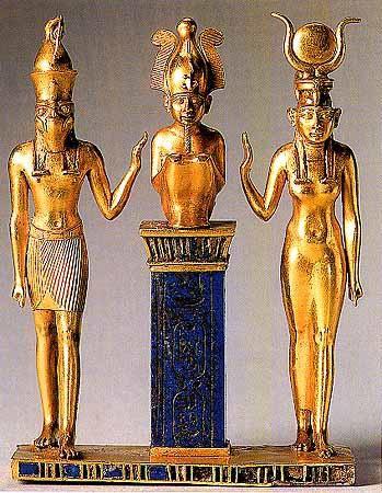 Osiris (Usir), Horus (Hor) , Isis (Aset) La version original