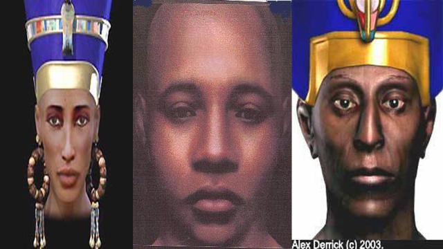 reconstitution faciale de Nefertiti, Toutankhamon, RamsésII