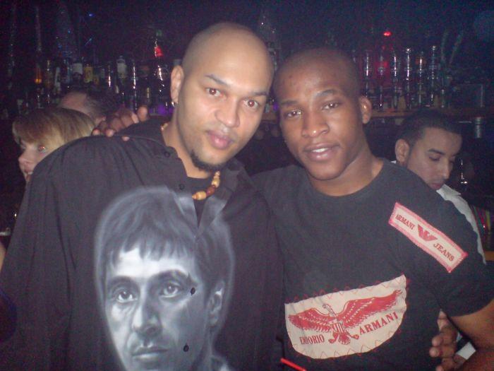 mon couz (dj B-rock) et moi