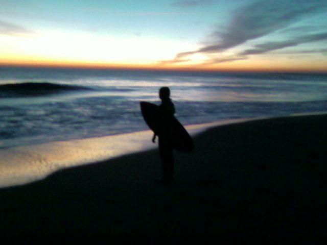 coucher de soleil a bsb le dernier a l'eau comme d'hab