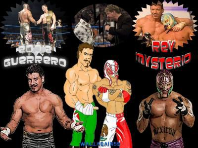 Eddie Guerrero & Rey Mysterio by Wallagain59