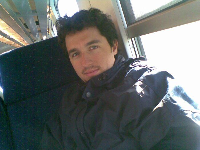 Dans le train en Avril 2008