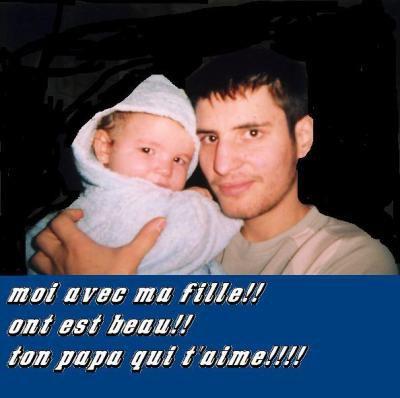 Lauriane et son papa mes deux amours