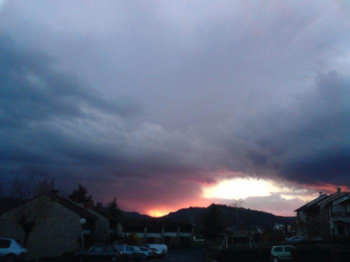 ciel de traine (le 22/03/08) à Espalion
