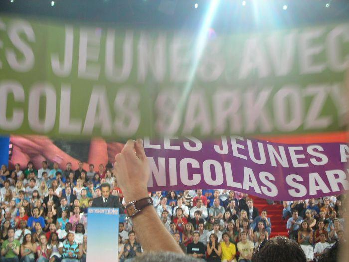 Sarkozy le 29 avril 2007 à Bercy