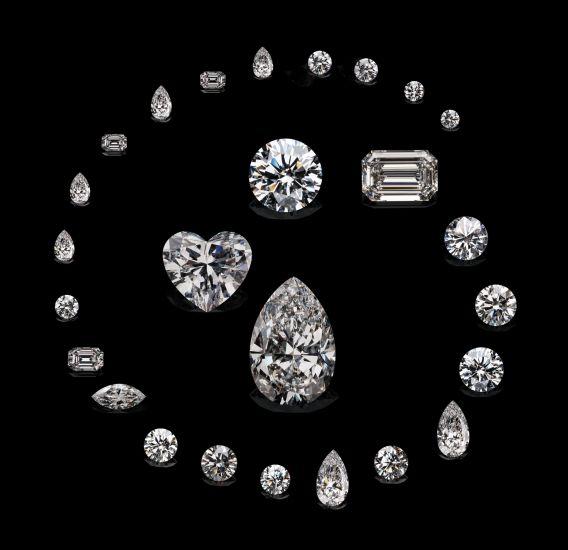 Les différentes tailles de diamant sous toute sa splendeur