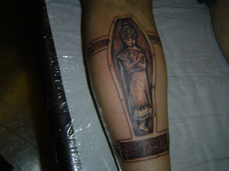 l arriere de mon tatouage une danseuse lao ... avec SU SAT P