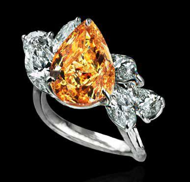 Bague diamant orange Lev Leviev
