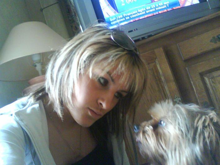 nina ( ma chienne )  et moi!!! tp bellah'