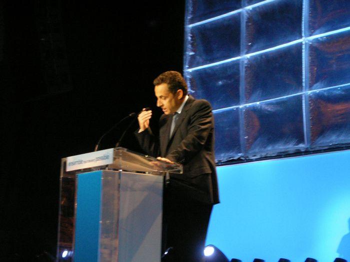 Sarko au zénith de paris le 18 mars 2007