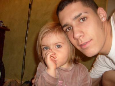 moi et ma niéce que j'aime plus que tout