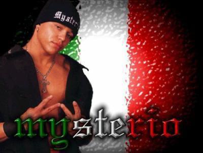 rey mysterio san masque avc le drapeau du mexique deriere