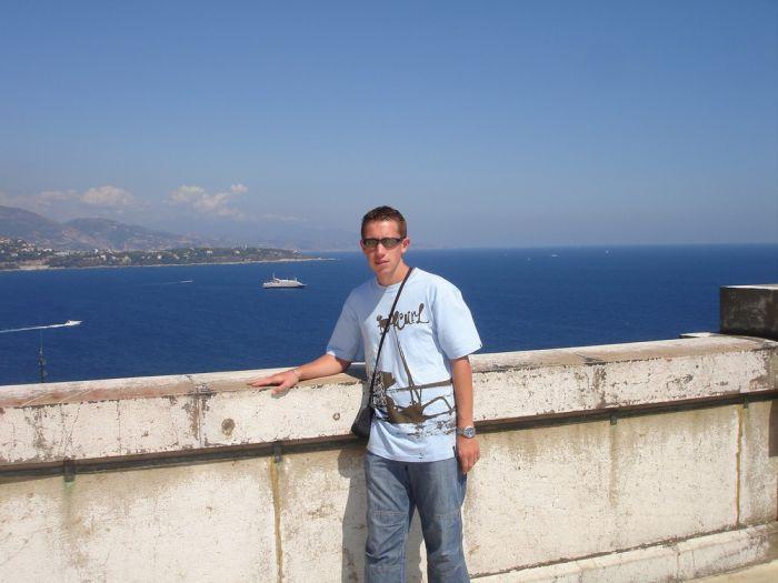 Sur le toit du musée océanographique de Monaco (août 2006)