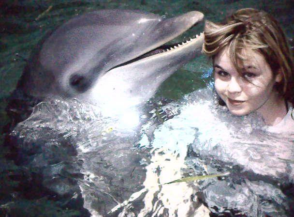 Moi a cuba avec un dauphin :D