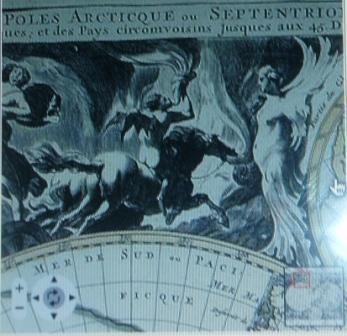 voici un extrait de vielle carte du monde ,