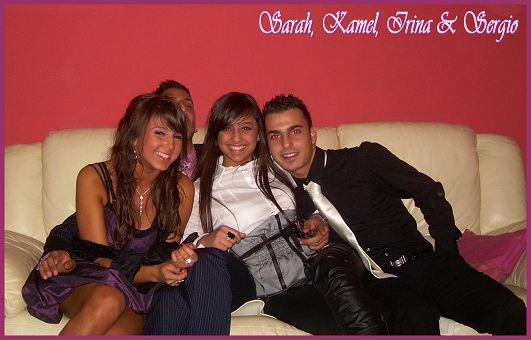 Avt le Nouvel an (Chez Sergio) Moi, Kamel, Irina & Sergio
