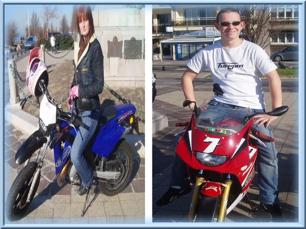 Couple de motard