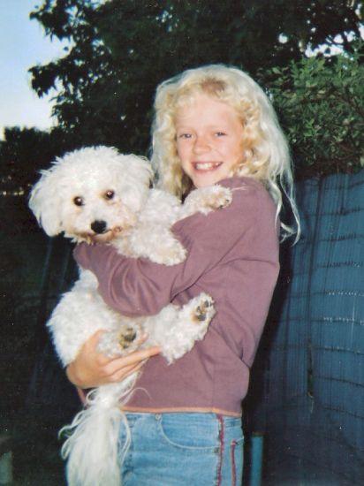 Amanda, ma fille et son petit chien