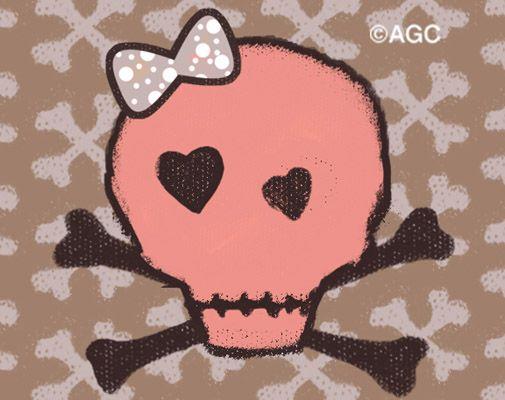 tête de mort rose