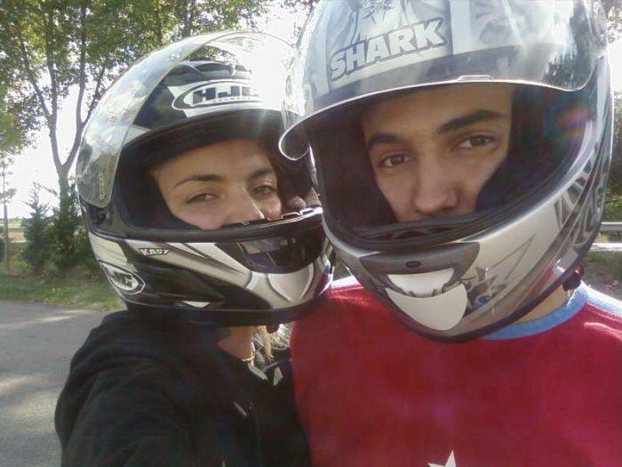 Moi et Mon Cheri sur sa moto ^^