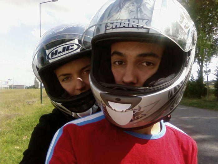 Mon coeur et moi sur sa Moto