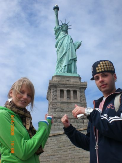 statue of liberty my sister and me