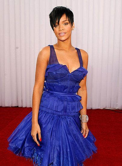 rihanna at the gramys 2008