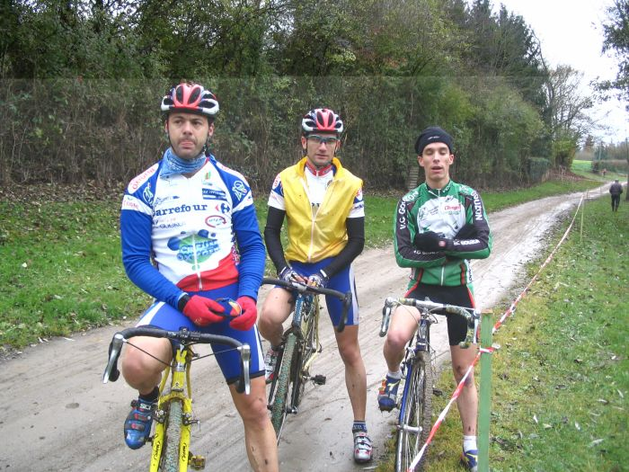 Avec dric et SLB lors de mon essai au cyclo cross !!!