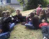 Nous sur l'herbe du lycée :)