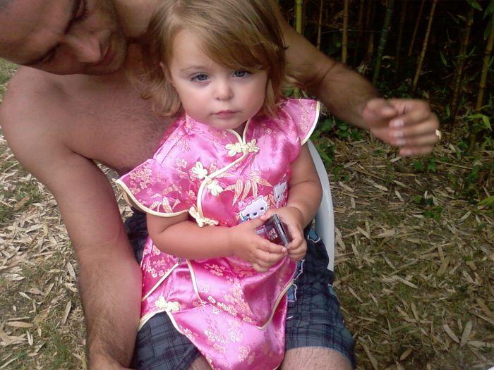 Rubiie sur son papa =)