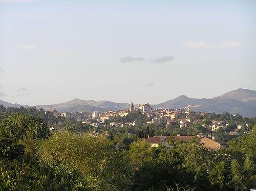 vue sur le sud du centre ville