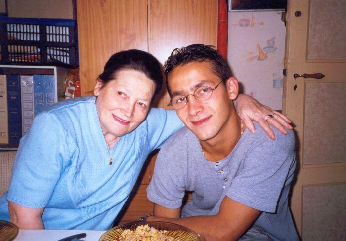 Ma mère Suzanne et Mon frère Michel