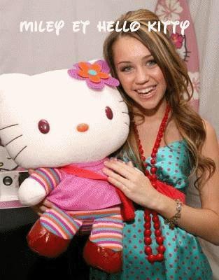 Miley et Hello kitty (L)
