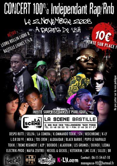 concert le 2 novembre a la scene bastille