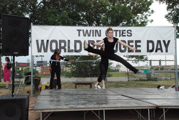 UDD Lyrical Dancer flys high at the 2007 World Refugee Day