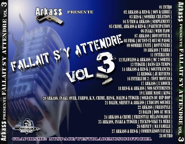 Arkass Présente Fallait S'y Attendre Vol.3 Back