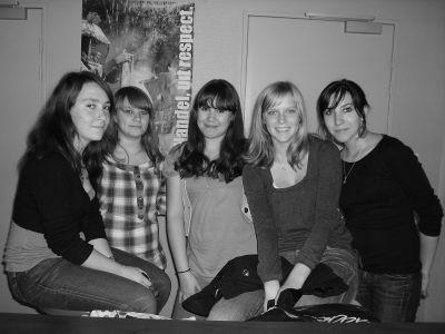 Pauline, Sophie, Tiziana, Kiliane, Margaux