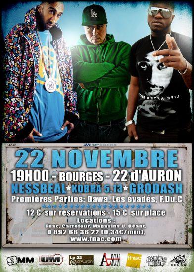 LIVE @ BOURGES LE 22/11