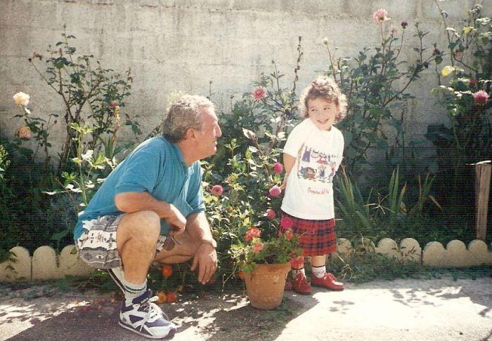 Moi kan zété ptite et mon gran père ^^