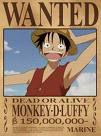Luffy , celui qui deviendras le roi des pirate !