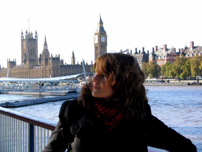 moi , big ben à Londres.