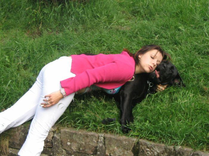 moi et ma chienne cane corso BAYRA!