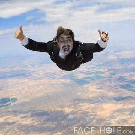 mon premier saut en parachute!!!!!!