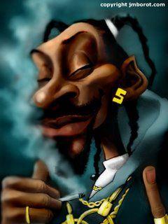 caricature Snoop Dog