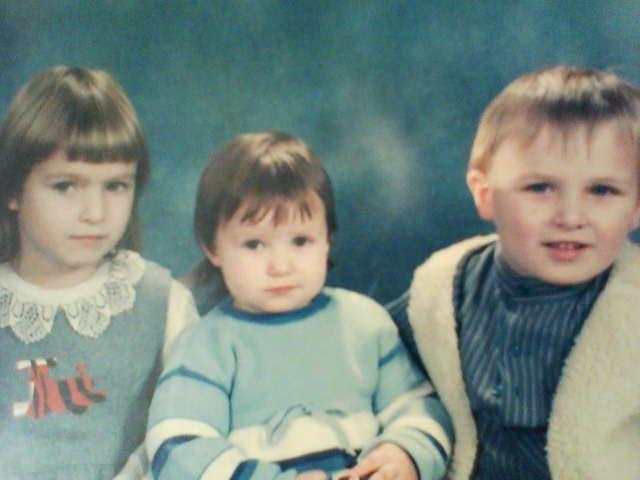 moi,mon frere et ma soeur kan on étais petits