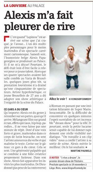 Alexis dans la gazette